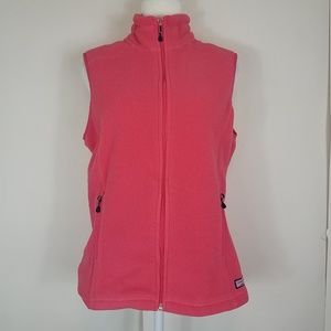 Vineyard Vines pink fleece vest size medium